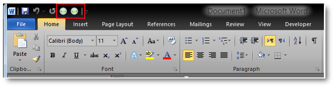 The Left-to-Right and Right-to-Left run commands in MS Word Quick Access Toolbar